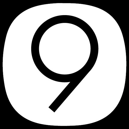 S9 / Note 9 Dark White AMOLED UI - Icon Pack