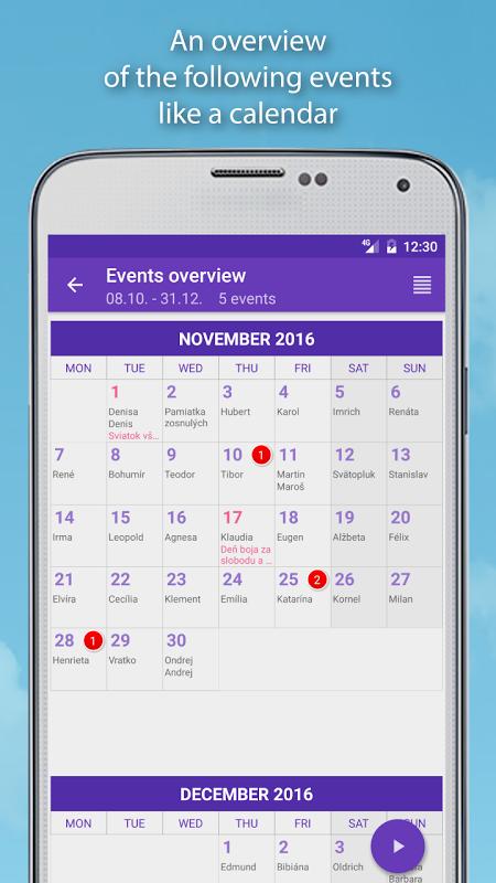Screenshot Name days Pro APK