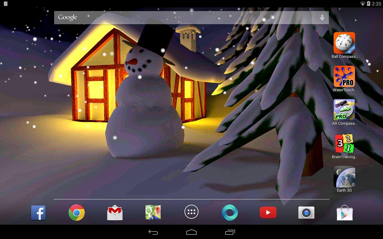 Winter Snow in Gyro 3D Pro The App Store android Code Lads