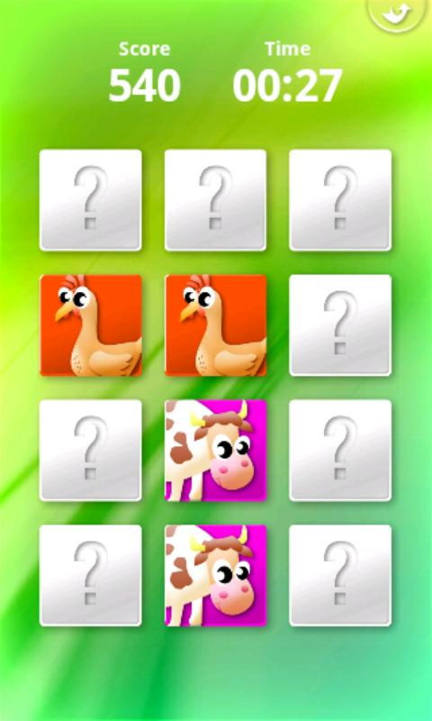 Screenshot Animals' Memory for Kids APK