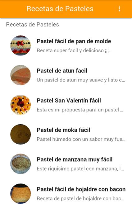 Recetas de Pasteles The App Store android Code Lads