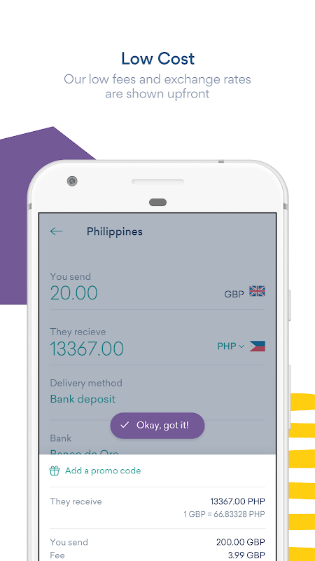 Screenshot WorldRemit Money Transfer APK