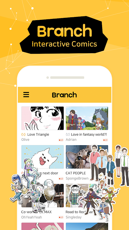 Branch - Comics, Cartoons, Webtoon and Hellopet The App Store android Code Lads