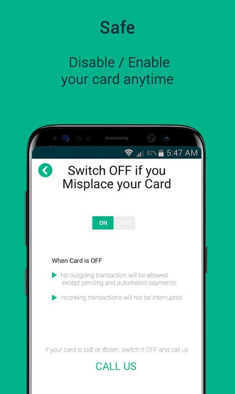 Screenshot Safe prepaid VISA card on your phone right away APK