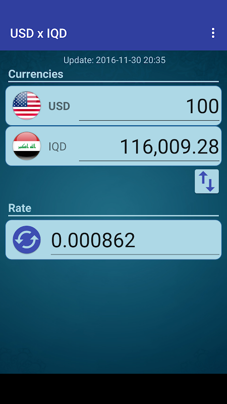 Screenshot US Dollar to Iraqi Dinar APK