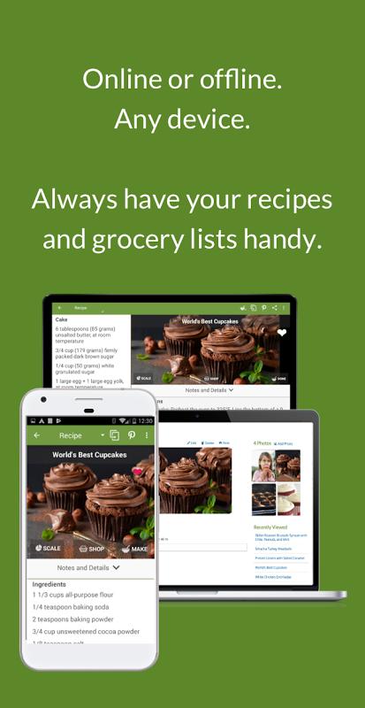 Screenshot ChefTap Recipes & Grocery List APK