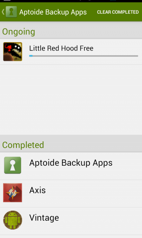 Screenshot Aptoide Backup Apps APK
