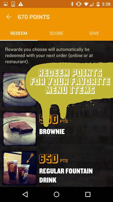 Screenshot QDOBA Rewards APK