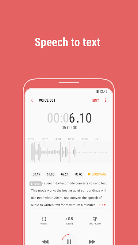Screenshot Samsung Voice Recorder APK