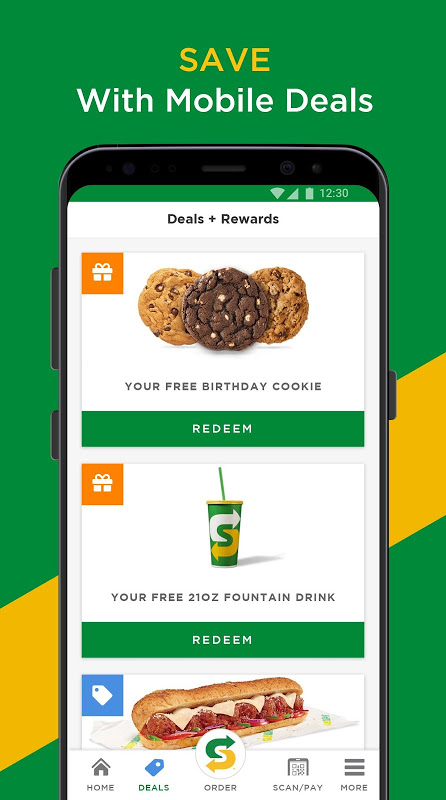 SUBWAY® The App Store android Code Lads