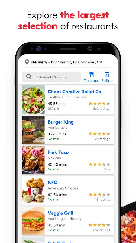 Screenshot Grubhub: Local Food Delivery APK