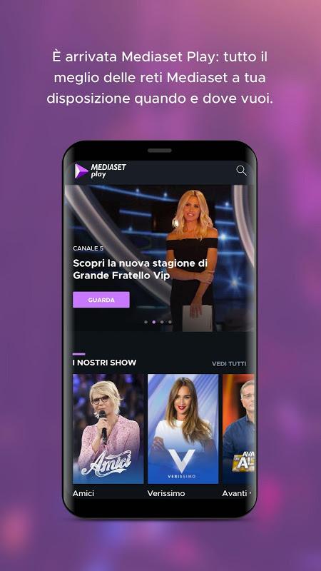 Screenshot Mediaset Play APK
