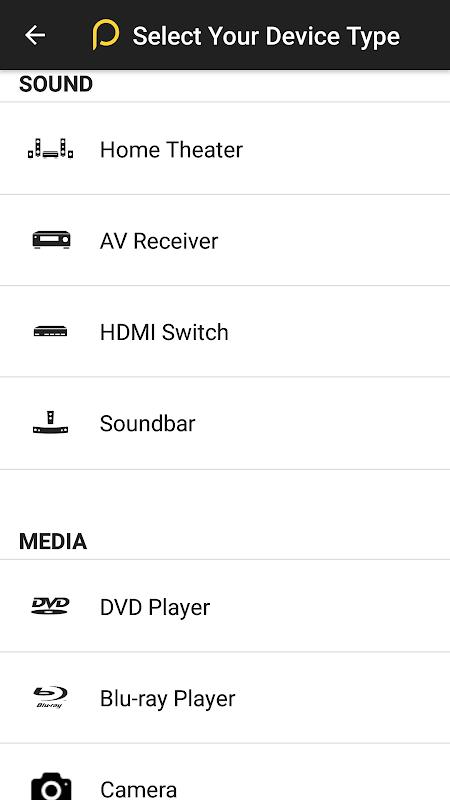 Screenshot Peel Universal Smart TV Remote Control APK
