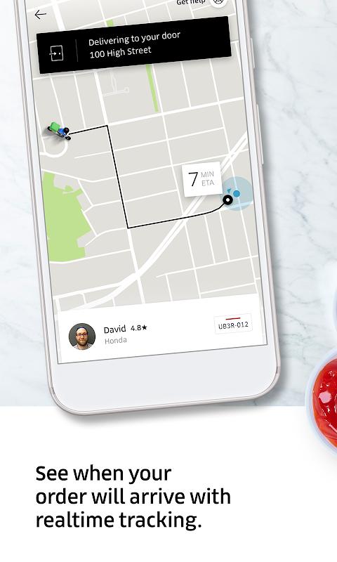 Screenshot Uber Eats: Local food delivery APK