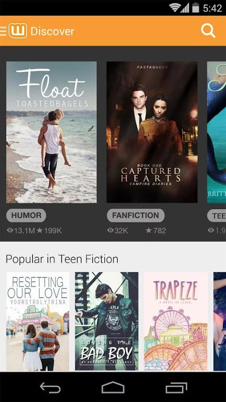 Screenshot Wattpad Beta APK