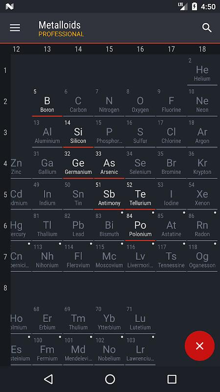 Screenshot Periodic Table 2018 PRO APK