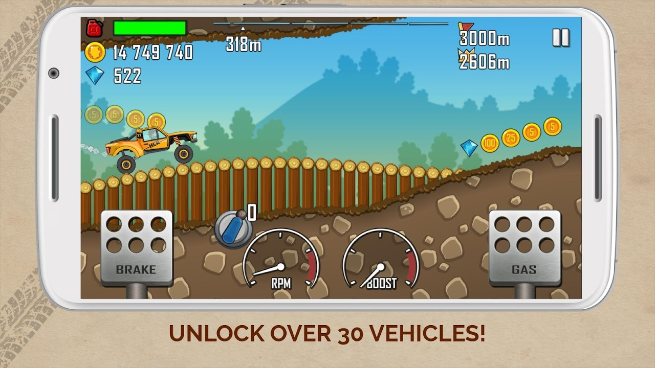 Screenshot Hill Climb Racing APK