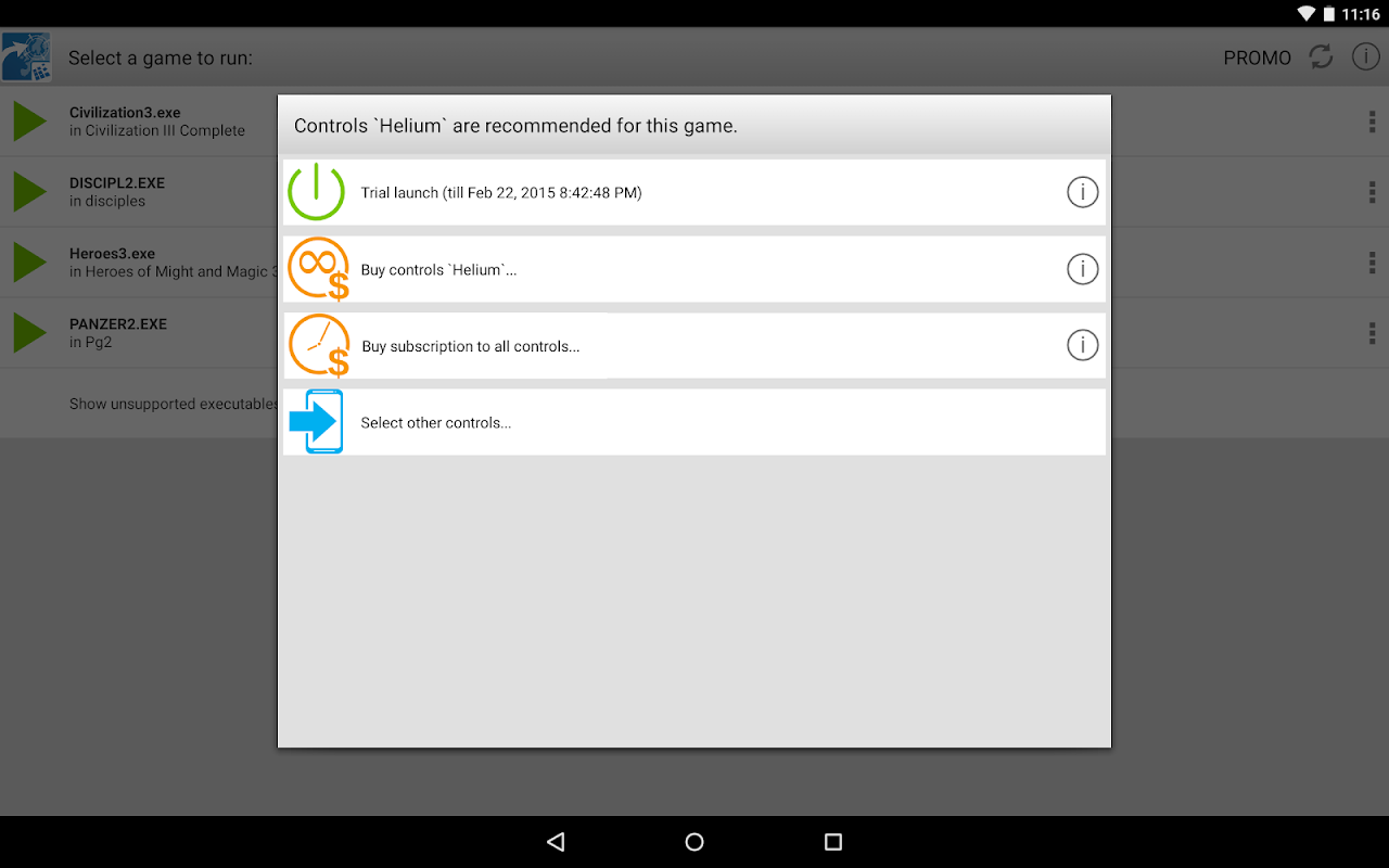 Screenshot ExaGear Strategies - PC games for Android APK