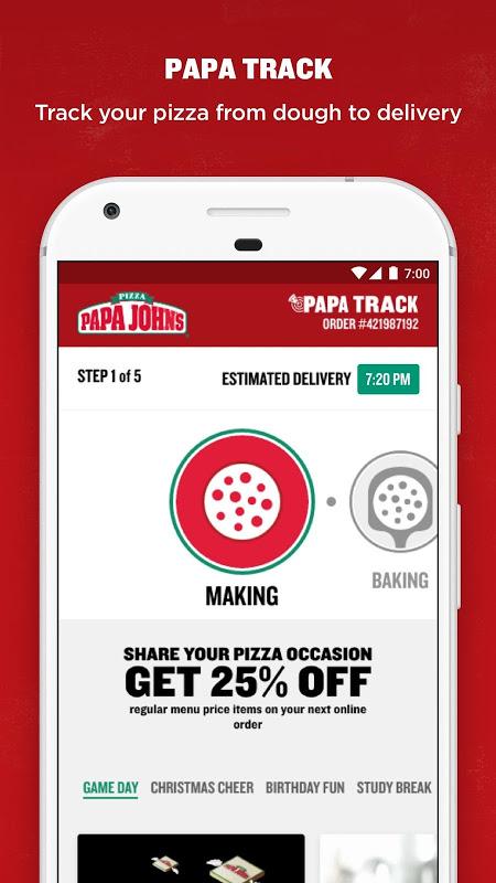 Screenshot Papa John's Pizza APK
