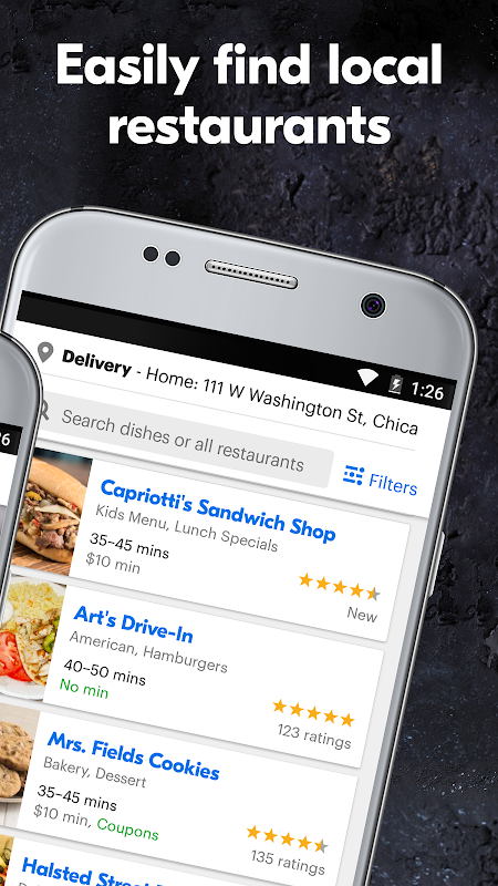 Screenshot Grubhub Food Delivery/Takeout APK