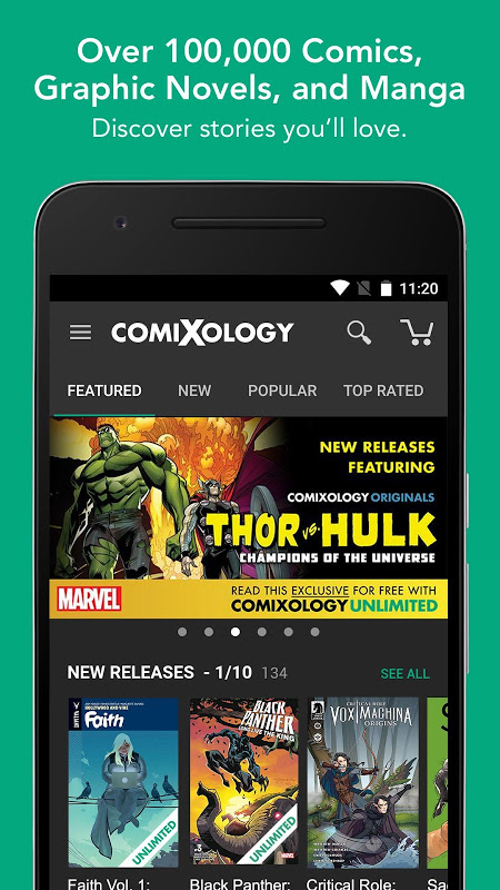 Comics The App Store