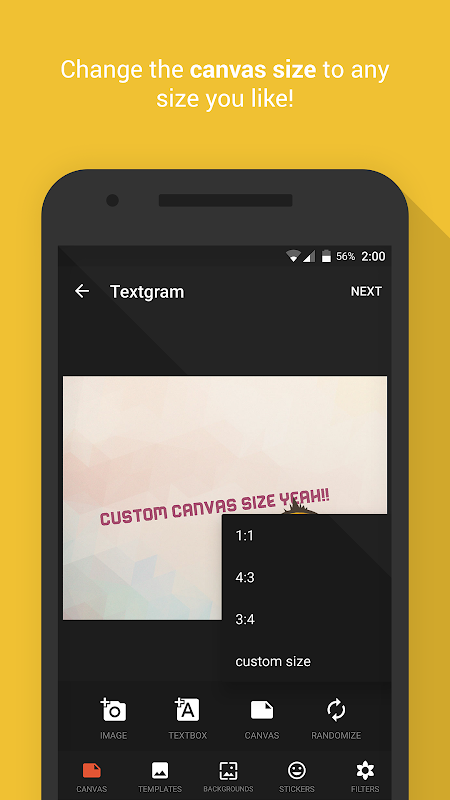 Textgram - write on photos The App Store android Code Lads