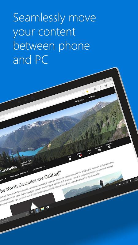 Screenshot Microsoft Edge APK