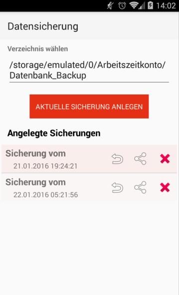 Screenshot Arbeitszeitkonto APK