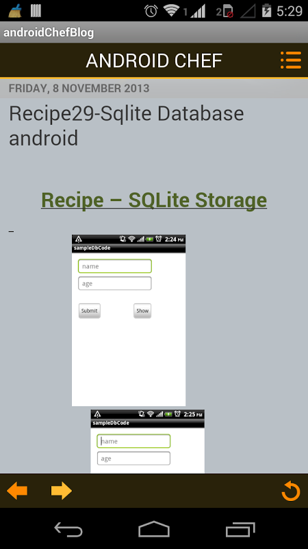 Screenshot Learn Android APK