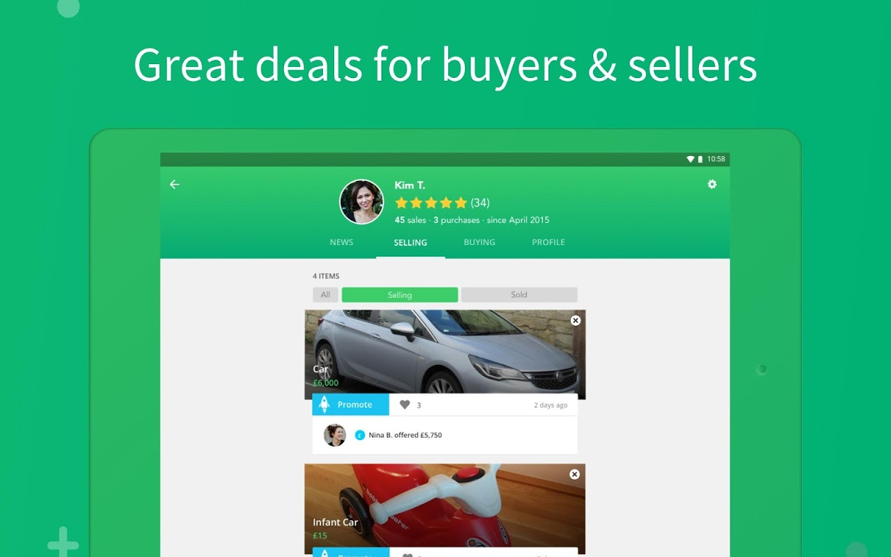 Screenshot Shpock - The local way to sell and buy APK