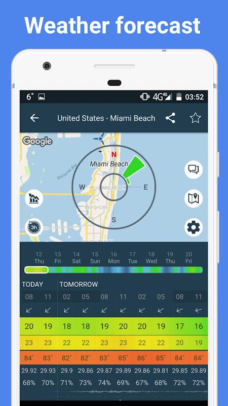 Screenshot WINDY APP: wind forecast & marine weather + tides APK