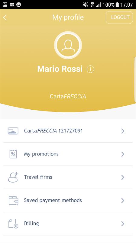 Screenshot Trenitalia APK