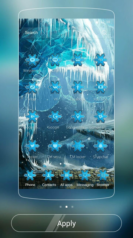 Theme Ice Frozen Snow Castle The App Store android Code Lads