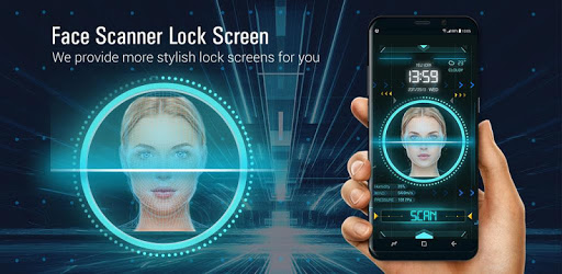 Face detection style lock screen for prank
