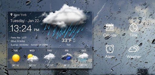 Real-time weather display