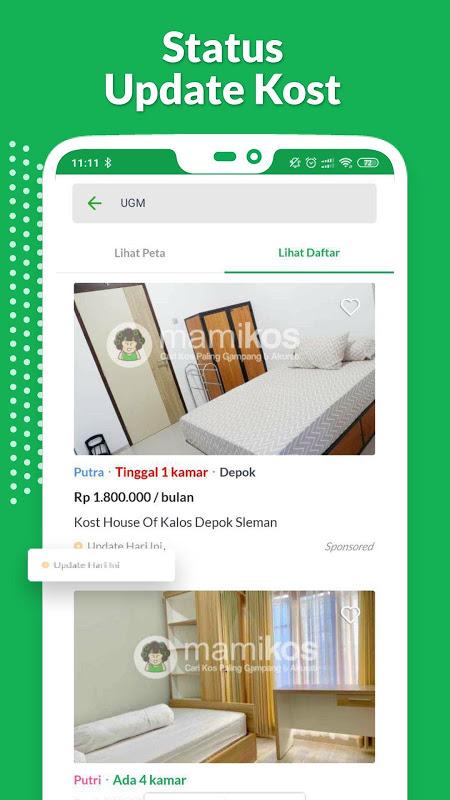 Mamikos - Cari kost Mudah, Langsung Hubungi Kost The App Store android Code Lads