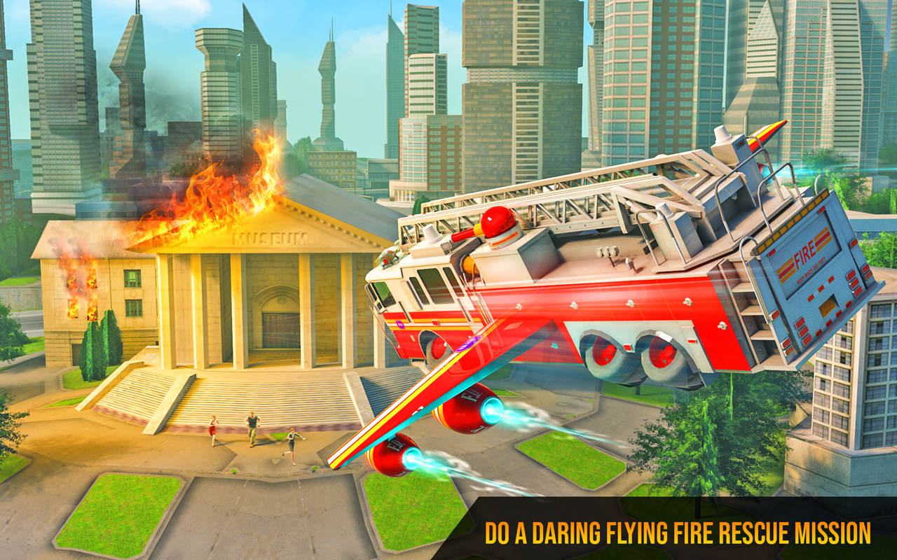 Flying Firefighter Truck Transform Robot Games The App Store