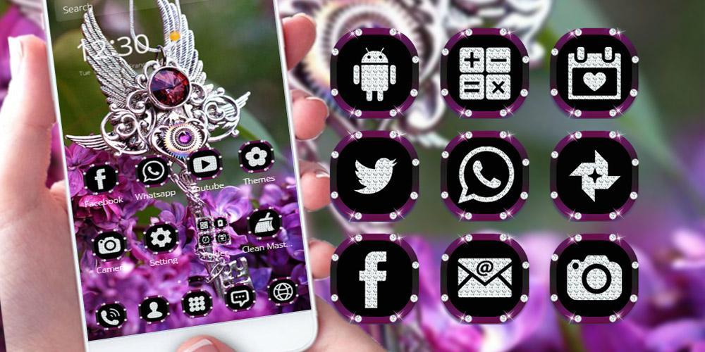 Purple Diamond Lavender Theme The App Store