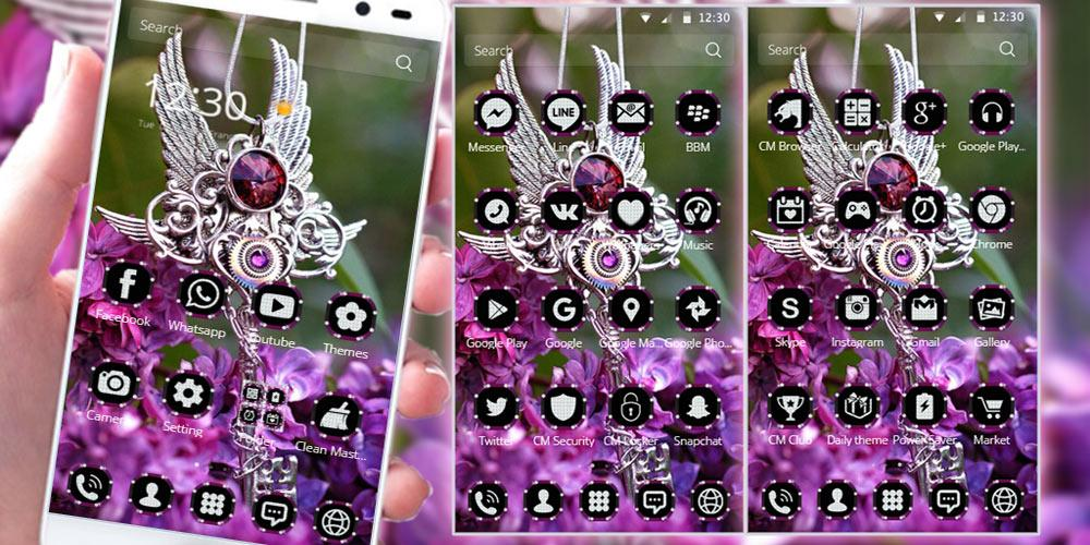 Purple Diamond Lavender Theme The App Store android Code Lads