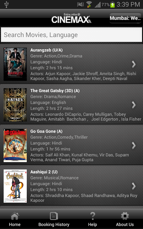 Cinemax India The App Store android Code Lads