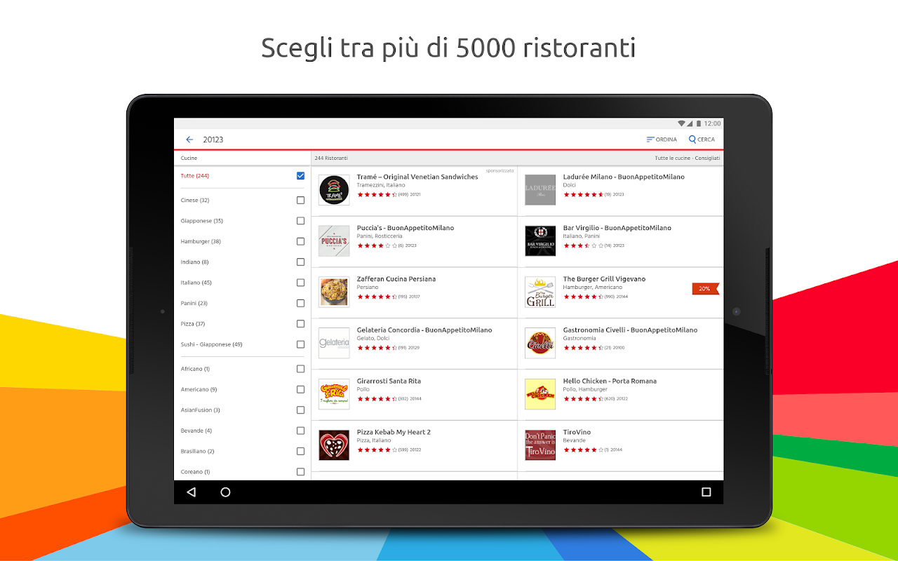 Screenshot Just Eat - Ordina pranzo e cena a Domicilio APK