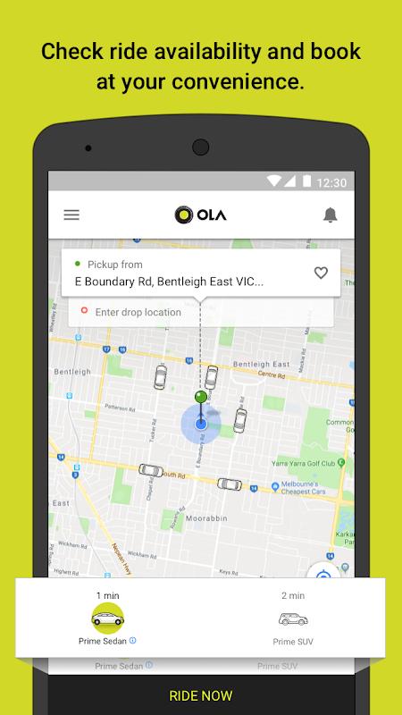 Screenshot Ola cabs - Taxi, Auto, Car Rental, Share Booking APK