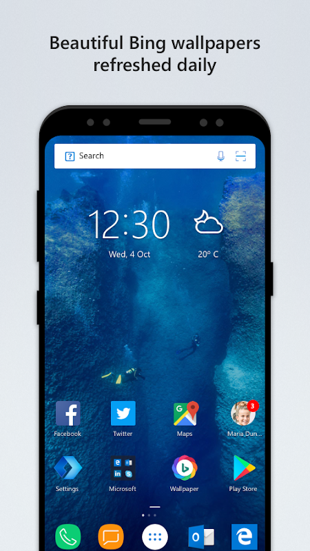 Screenshot Microsoft Launcher APK