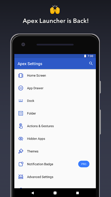 Apex Launcher The App Store android Code Lads