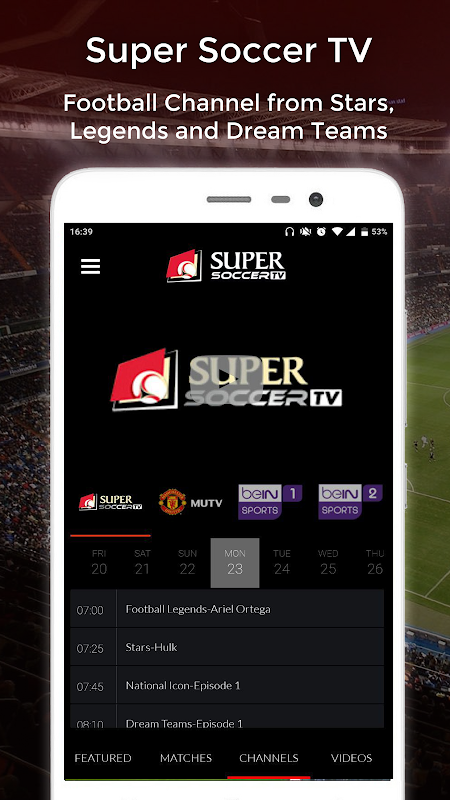 Super Soccer TV The App Store android Code Lads