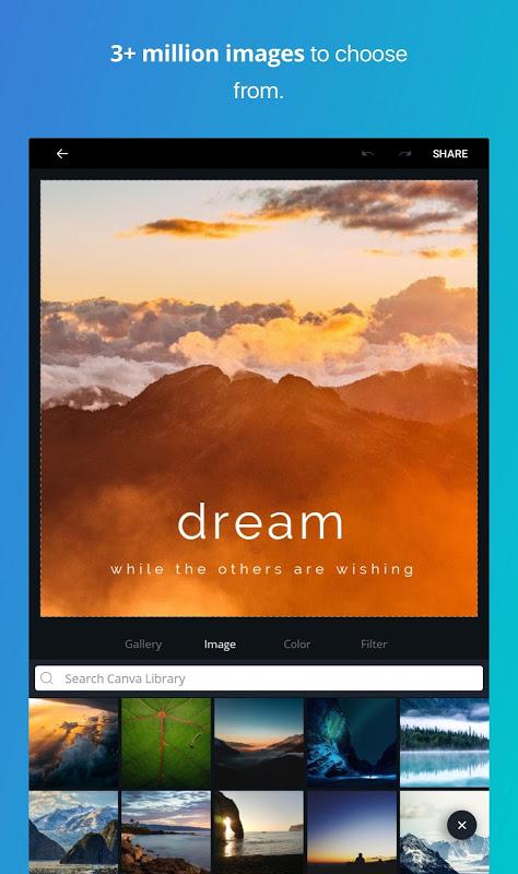 Screenshot Canva: Poster, banner, card maker & graphic design APK