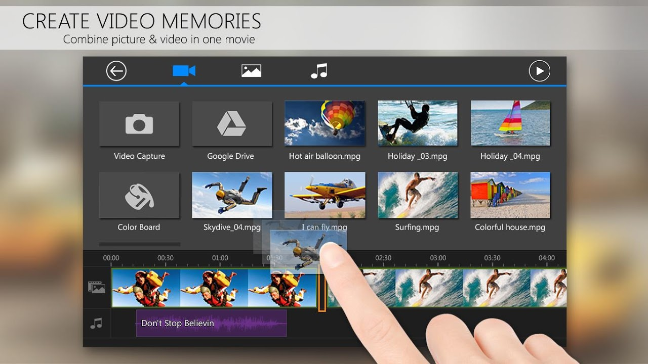 Screenshot PowerDirector Video Editor App: 4K, Slow Mo & More APK
