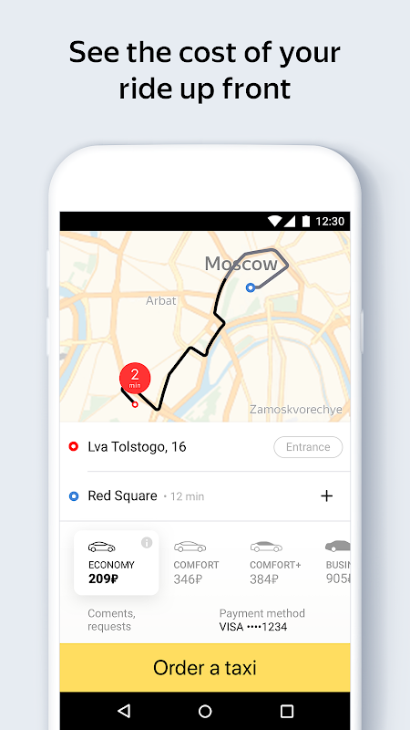 Screenshot Yandex.Taxi Ride-Hailing Service APK