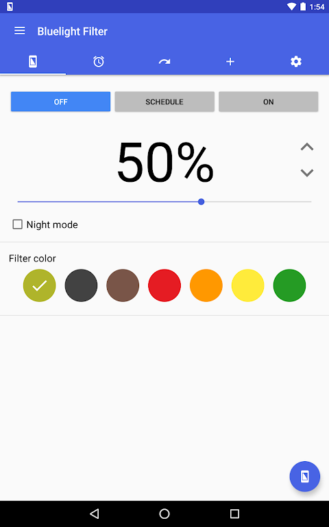 Screenshot Bluelight Filter for Eye Care APK