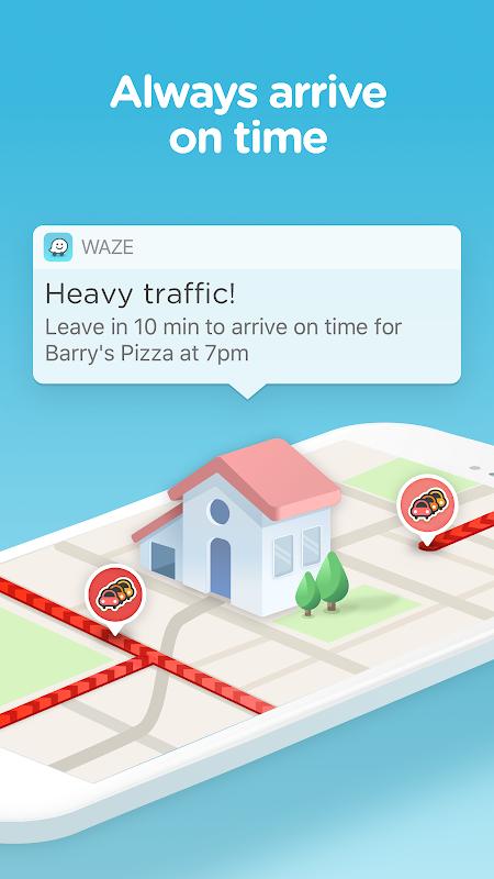 Screenshot Waze - GPS, Maps, Traffic Alerts & Sat Nav APK